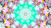 psychedelic pattern : Many colors kaleidoscope Stock Footage