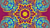 psychedelic pattern : Purple blue and yellow kaleidoscope