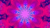 psychedelic pattern : Purple kaleidoscope Stock Footage