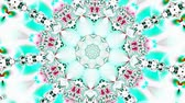 psychedelic pattern : White and green kaleidoscope