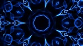 psychedelic pattern : Blue kaleidoscope effect background Stock Footage