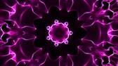 psychedelic pattern : Purple kaleidoscope background Stock Footage