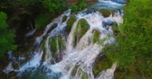b roll : Waterfall in forest Stock Footage