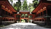bahçe : Kyoto, japan-May 21, 2018: Mt.Hiei-zan Enryaku-ji Temple in Kyoto, Japan.Enryaku-ji Temple was founded by the priest Saich o In 788. Stok Video