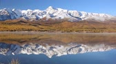 Snow-capped Mountains and a Lake on the Plain Below. Altai. Russia Wideo