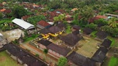 adorar : Flying with drone over balinese traditional temple. 4K aerial view footage, no edit. Stock Footage