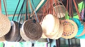 shoppingbag : Rattan eco bags in the art shop on Bali island, Indonesia. Woman stylish eco bag.