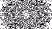 motívum : Abstract ornamental digital hand drawn mandala footage. Floral vintage tattoo decorative elements oriental islam pattern Stock mozgókép