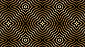 диагональ : Seamless Art Deco animation of multiple striped rhombus shapes. Loop gold background. 4k.