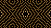filmler : Seamless Art Deco animation of multiple striped rhombus shapes. Loop gold background. 4k