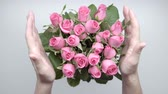 sweetheart : Bouquet of roses on the table. 14