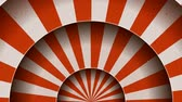 Vintage Abstract Circus Background Rotation Seamless looped animation of a vintage abstract circus background rotation, with shadow circles, sunbeams and soft grunge texture Stock Footage