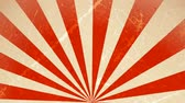 weathered : Circus carnival Background Rotation Loop Animation of an abstract vintage and retro circus background rotating, with sunbeams an stripes