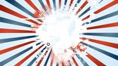 Fourth Of July Holidays Background Rotation Loop Animation of an abstract vintage and retro american patriotic background, with sunbeams, stars and stripes for independence day celebration