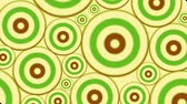 Vintage Psychedelic Circles Footage Animation loop of an hypnotic and psychedelic abstract multiple spiral background with red rings and circles