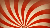 decorações : Circus carnival Background Rotation Loop Animation of an abstract vintage and retro circus background rotating, with sunbeams an stripes
