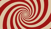 süsleme : Hypnotic Spiral Background Rotating Animation of a vintage and retro hypnotic red spiral background rotating