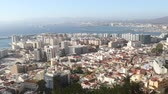 Gibraltar, United Kingdom, 3rd October 2018:-The town and harbour of Gibraltar viewed from up the Rock. Gibraltar is a British Overseas Territory located on the southern tip of Spain.