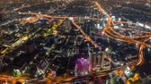 city lights : v23. Panning Bangkok cityscape time lapse at night.