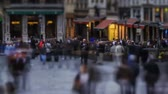 bruxelas : v26. City pedestrian traffic time lapse of busy Brussels shopping area. Stock Footage