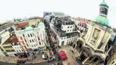 bruxelas : v42. City pedestrian traffic time lapse of busy Brussels shopping street and cityscape.