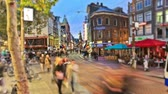 v73. City and pedestrian traffic time lapse in Amsterdam. Stock Footage