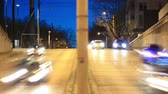 intersection : v4. City traffic time lapse of passing vehicles in the early evening. Stock Footage