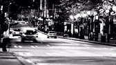 taillight : v6. City traffic time lapse at night in high contrast B & W.