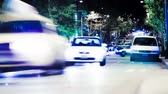 taillight : v7. City traffic time lapse at night. Stock Footage