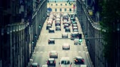 bruxelas : v43. City traffic time lapse in Brussels with added color correction effect. Stock Footage