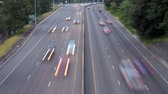 taillight : v2. Time lapse of Interstate 84 in Portland facing Eastbound in the evening. Stock Footage