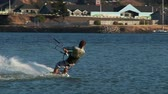 vibrante : v13. Two clips of kiteboarder kiting in Hood River, OR.