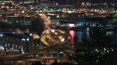 ponte : v11. Panning time lapse of I-5 Marquam bridge traffic at night.