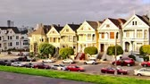 downtown : v2. Zooming Painted Ladies time lapse clip using a photo effect. Stock Footage