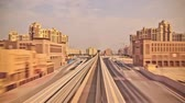 v22. Very cool train ride time lapse through the Palm Jumeirah into media city in Dubai.