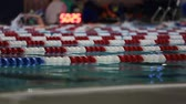 yüzme : v6. Selective focus shot of people swimming laps.