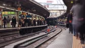 v2. Tokyo train station time lapse. Stock Footage