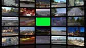 üzlet : v32. Video wall of HD transportation videos. Zoom into green screen center for adding your own videos.