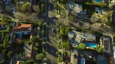 casa : Los Angeles Aerial Beverly Hills v57 Low flying vertical aerial over Beverly Hills neighborhood. 22415 Stock Footage