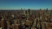 upper east side : New York City Aerial v58 Flying backwards over Kips Bay with Midtown Manhattan cityscape view. Stock Footage