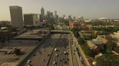dorm : Atlanta Aerial v81 Flying low over freeway towards downtown.