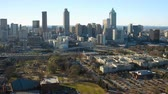 Atlanta Aerial v165 Flying over MLK Center panning in Sweet Auburn neighborhood with cityscape views. Stock Footage