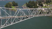 vibrante : Columbia River Aerial v14 Flying low over Bridge of the Gods and Cascade Locks area.
