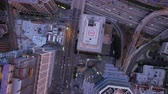 Los Angeles Aerial v117 Vertical shot looking down over downtown panning. Stock Footage