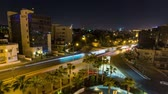 jordanian : City Traffic Time Lapse Amman Jordan v121 City traffic night time lapse in Amman. Stock Footage