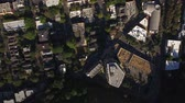 upscale : Portland Aerial v50 Flying over up town area looking down vertically. Stock Footage