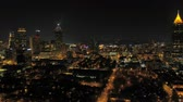 olympic park : Atlanta Aerial v248 Flying low into and over downtown at night with cityscape views 317 Stock Footage