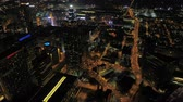 államközi : Atlanta Aerial v249 Birdseye view flying over downtown at night panning with full cityscape views 317