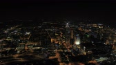 olympic park : Atlanta Aerial v251 Flying over downtown panning with cityscape views at night 317 Stock Footage