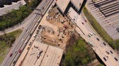 colapso : Atlanta Aerial v281 Birdseye view flying low over freeway bridge collapse 417